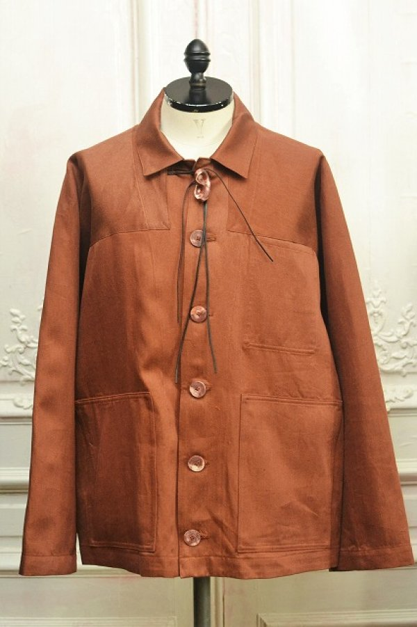 "画像1: amachi. "" Forest Woker Jacket - Elise Gettliffe "" col.Brown×Orange"
