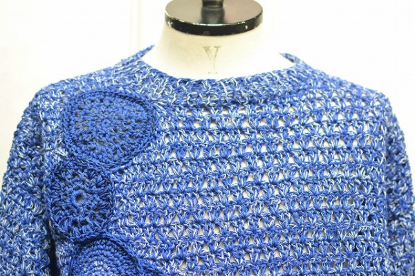 """画像2: amachi. """"  Caillois's  Aate Knit  """" col.Majorelle Blue"""