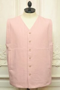 """toogood """" THE PHILOSOPHER WAISTCOAT - WORK DRILL """" col.OLD ROSE"""