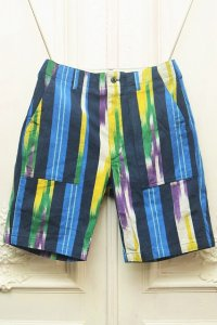"Engineered Garments "" Fatigue Short - Ikat "" col.Blue Green Yellow"