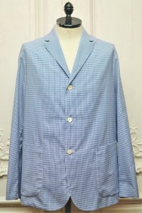 "MAATEE&SONS "" 3B  Work Jacket - mathematics exclusive  "" col.Blue White Checkered"