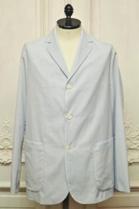 "MAATEE&SONS "" 3B  Work Jacket - mathematics exclusive  "" col.Blue White Graphcheck"