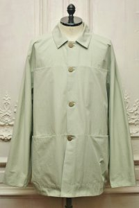 "toogood "" THE FARRIER JACKET - PLAIN COTTON SILK "" col.CELADON"
