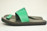 "JUTTA NEUMANN "" Alice Square - Leather Sandals "" col.Kelly Green NL"