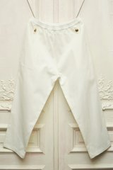 """STEFAN COOKE """" Trousers With Elastic Waist and Brass Boutton""""  col. White"""