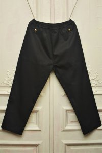 "STEFAN COOKE "" Trousers With Elastic Waist and Brass Boutton""  col. Dark Navy"