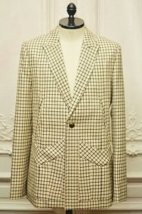 "STEFAN COOKE "" Tailored Jacket With 5 Pokets and Brass Button ""  col.Pink/Black/Cream"