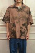 """画像7: amachi. """"  Packable Meeting Shirt """" col.Brown Uneven Dye"""