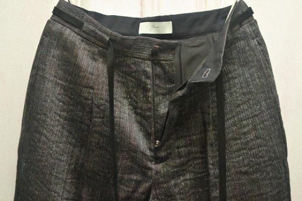 """画像2: amachi. """" Rikyu Pants """" col.Charcoal×Red Wood"""