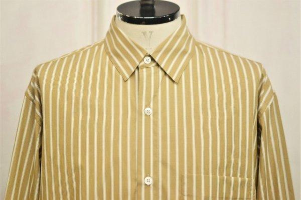 """画像2: Cristaseya  """" Over Sized Classic Collar Shirt """" col.Beige Stripes"""