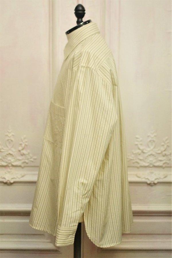 """画像3: Cristaseya  """" Over Sized Classic Collar Shirt """" col.Large Sauge Stripes"""