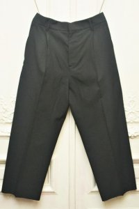 """Cristaseya """" Pleated Cropped Trousers """" col.Black"""