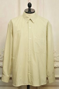 "Cristaseya  "" Over Sized Classic Collar Shirt "" col.Large Sauge Stripes"