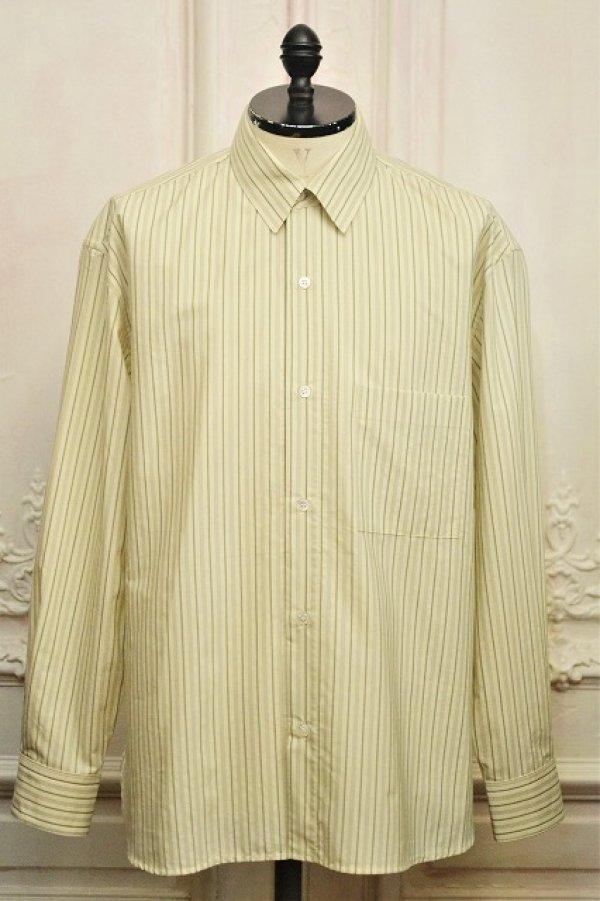 """画像1: Cristaseya  """" Over Sized Classic Collar Shirt """" col.Large Sauge Stripes"""