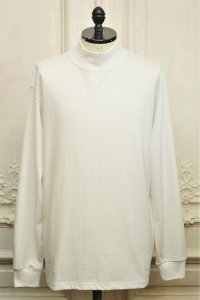 """Graphpaper """" L/S Mock Neck Tee """" col.WHITE"""