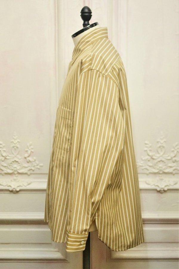 """画像3: Cristaseya  """" Over Sized Classic Collar Shirt """" col.Beige Stripes"""