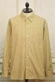 """画像1: Cristaseya  """" Over Sized Classic Collar Shirt """" col.Beige Stripes (1)"""