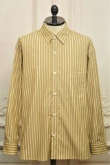 "Cristaseya  "" Over Sized Classic Collar Shirt "" col.Beige Stripes"