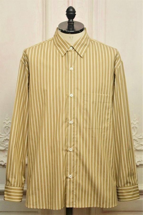 """画像1: Cristaseya  """" Over Sized Classic Collar Shirt """" col.Beige Stripes"""