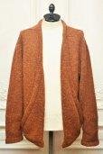 """画像1: TENDER CO. """" Purl Edge Folded Front Cardigan - Wool Donegal  """"  col.Copper Beech (1)"""