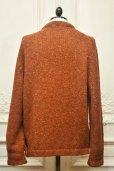 """画像5: TENDER CO. """" Purl Edge Folded Front Cardigan - Wool Donegal  """"  col.Copper Beech"""