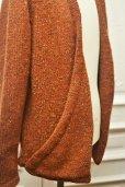 """画像6: TENDER CO. """" Purl Edge Folded Front Cardigan - Wool Donegal  """"  col.Copper Beech"""