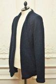 """画像3: TENDER CO. """" Purl Edge Folded Front Cardigan - Wool Donegal  """"  col.Navy"""