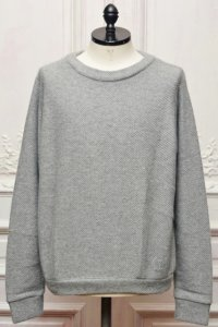 "The Elder Statesman "" Herring Sweater "" col.Light Grey"
