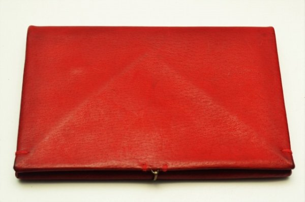 "画像2: m.a+ "" EXTRA LARGE WALLET WITH HOOK "" col.PIG LEATHER HIGH RISK RED"