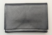 "m.a+ "" SMALL WALLET "" col.YAK LEATHER BLACK"