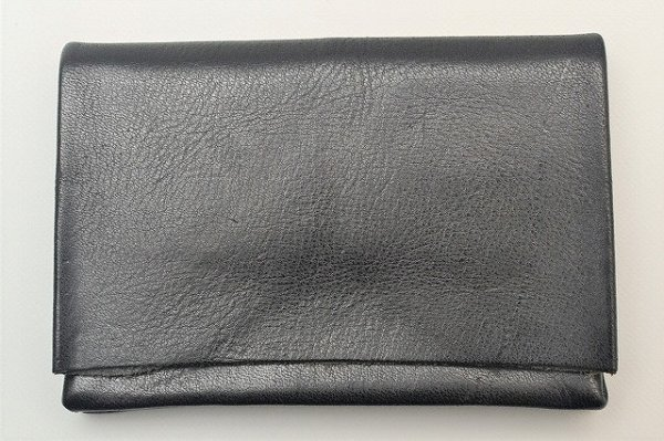 "画像1: m.a+ "" SMALL WALLET "" col.YAK LEATHER BLACK"