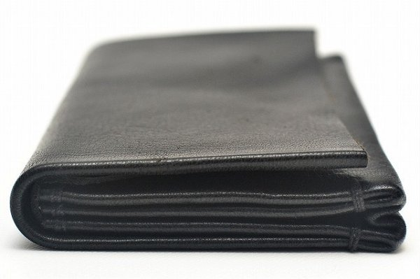 "画像2: m.a+ "" SMALL WALLET "" col.YAK LEATHER BLACK"